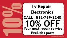 10 percent OFF coupong for Tv Repair Service